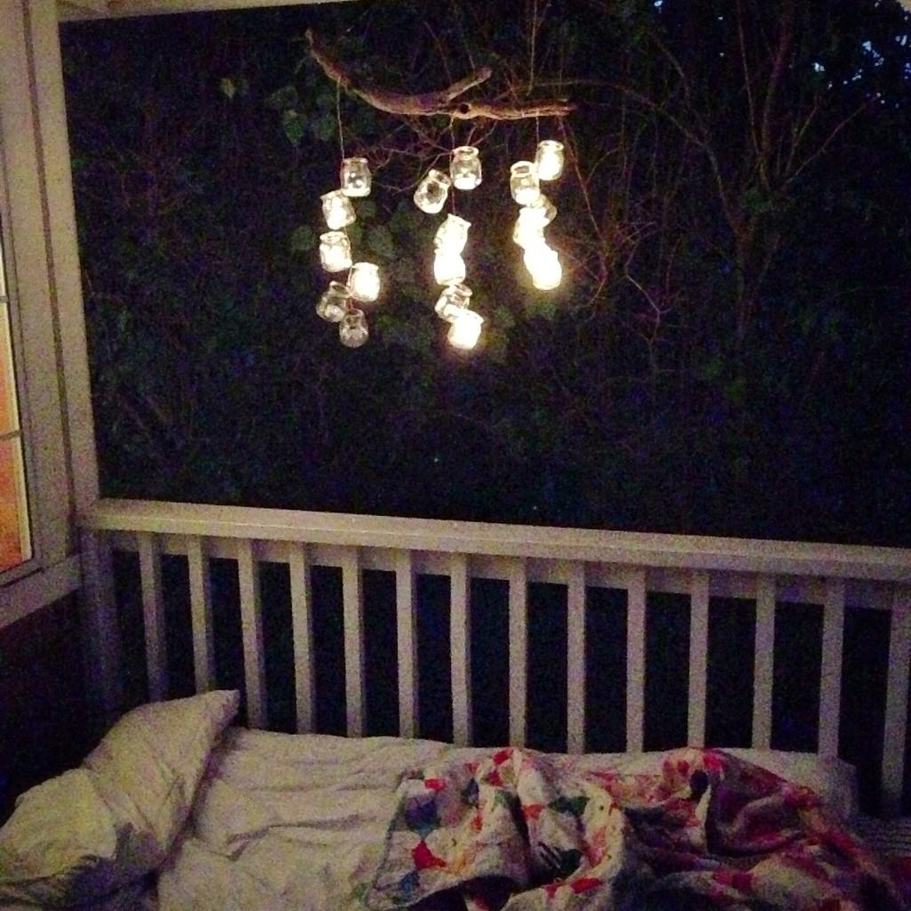 lit chandelier